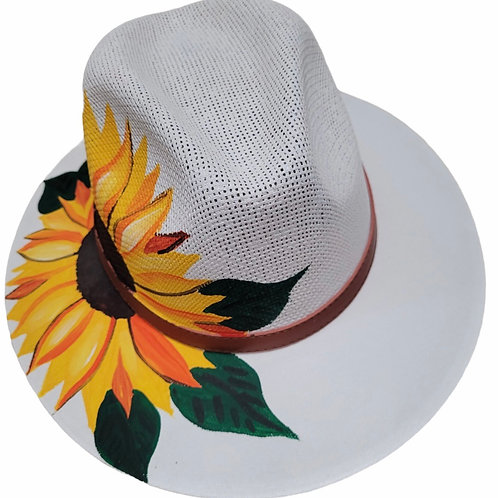 White Sunflower Hat