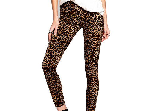 Carmen High Rise Ankle Fray - Cheetah Jean