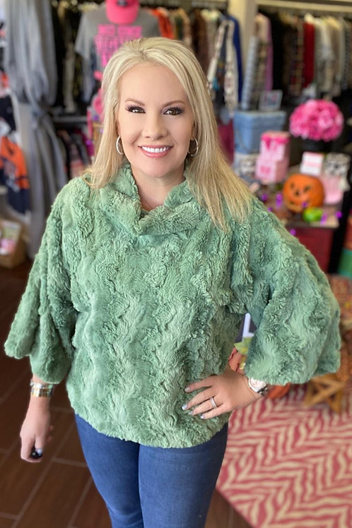 Green Poncho by Ivy Jane