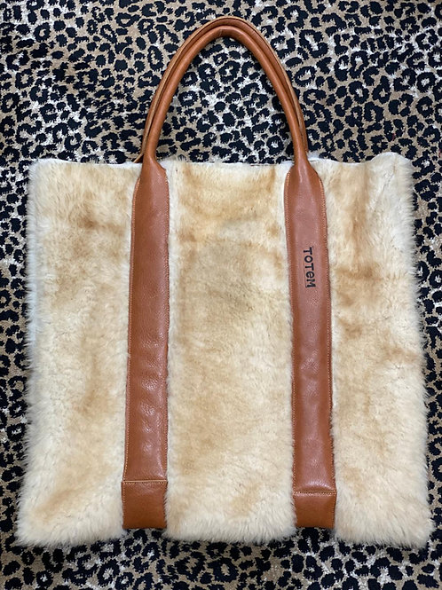 Totem Salvaged Sheepskin Tote
