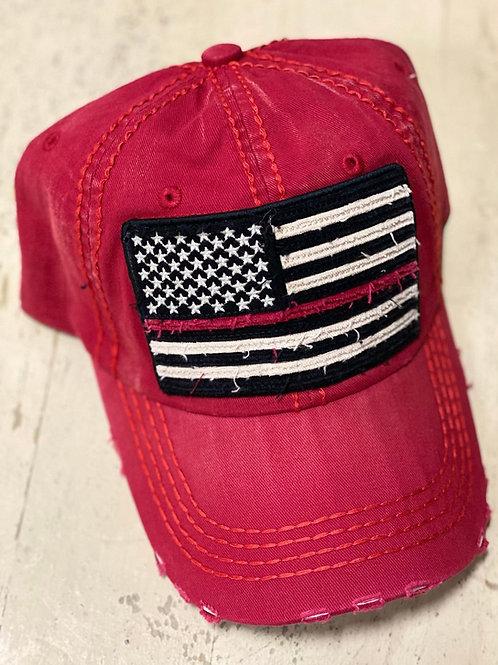 Red USA Cap