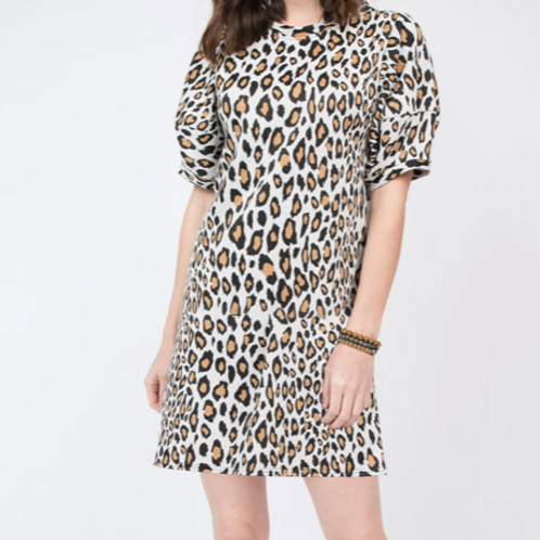 Ivy Jane Leopard Knit Swing Dress