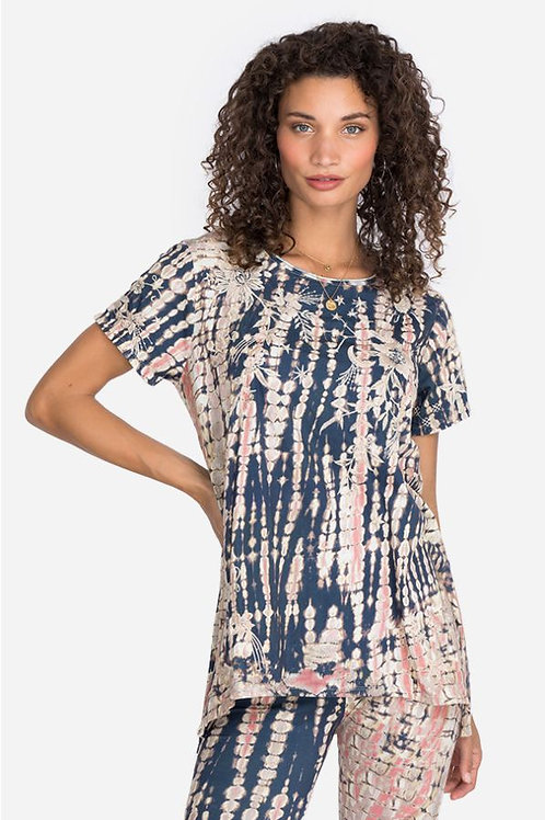 Embroidery Tie Dye Top