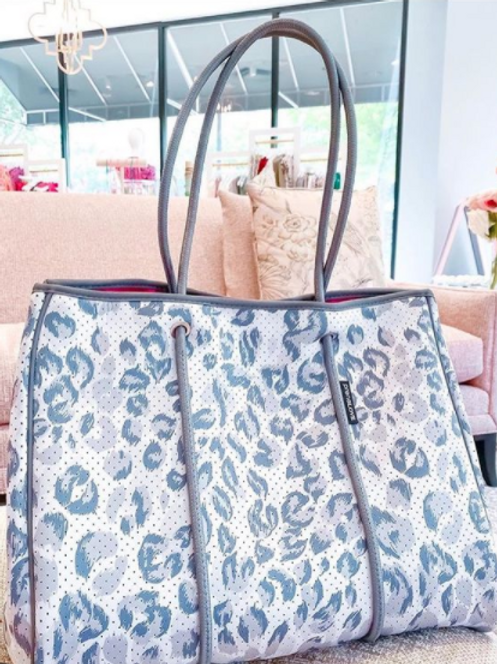 Leopard Tote with clutch