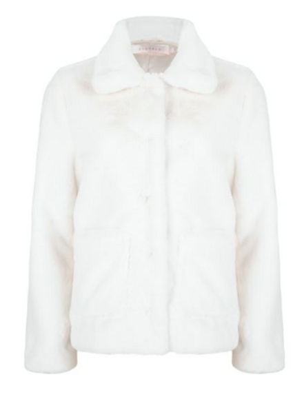 Faux Fur Jacket ~ White