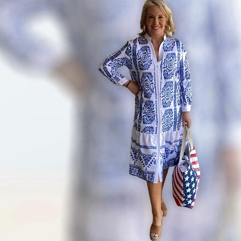 Midi Royal Blue Dress