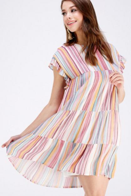 Candy Lane Ruffle Dress