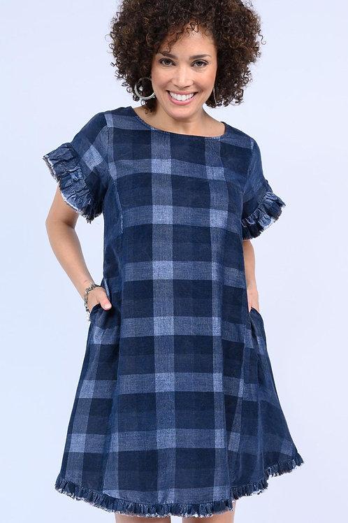 Ivy Jane Blue Plaid Dress