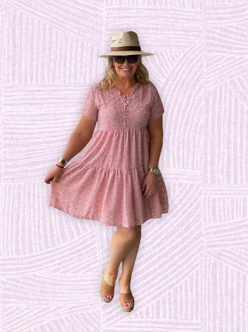 Blush Lace Baby Doll Dress