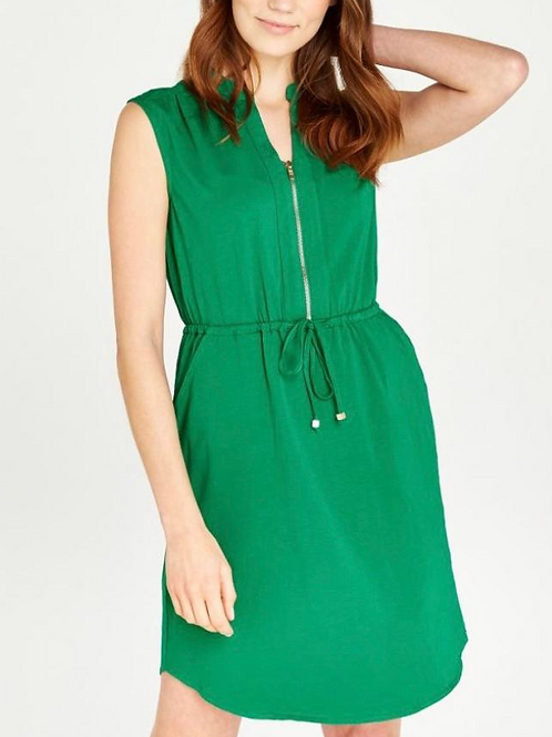 Green Dress Zip Down