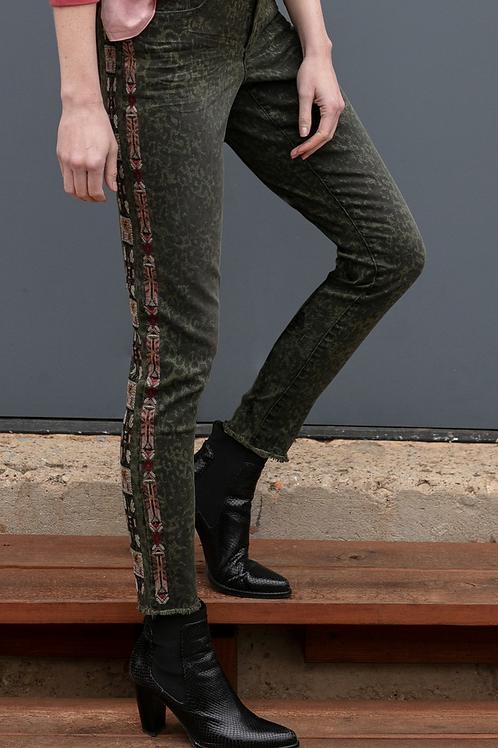 Olive Skinny Ankle Jean
