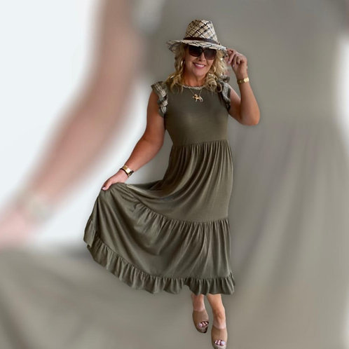 Katie Olive Midi Dress