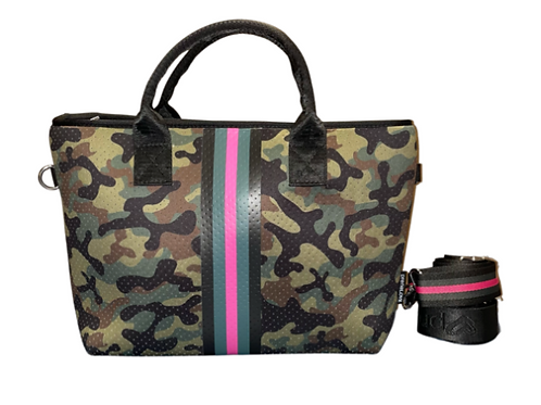 Camo with Pink Stripe Tote