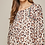 Thumbnail: Leopard Print with Bell Sleeve Top with Embroidery
