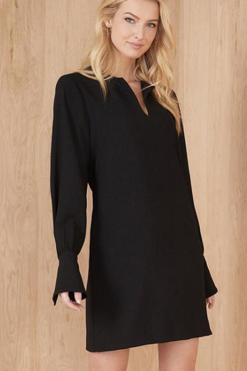 Cuff Detail Dress in Black