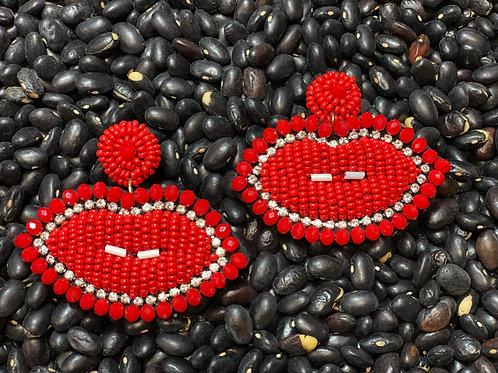 Red Lips Earrings - Post