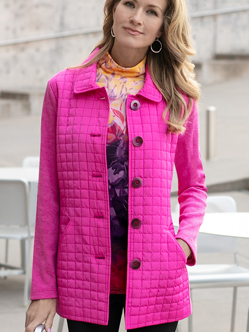 Pretty In Pink Quilted Jacket