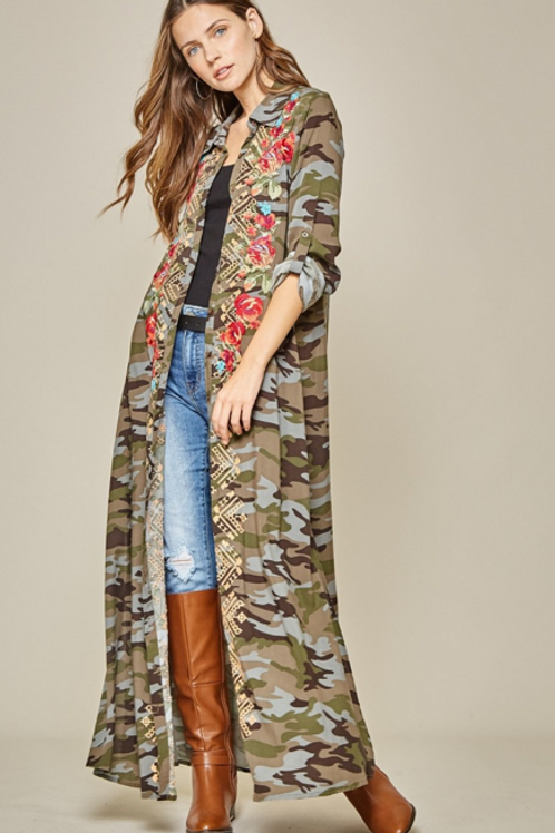 Camo Embroidery Duster