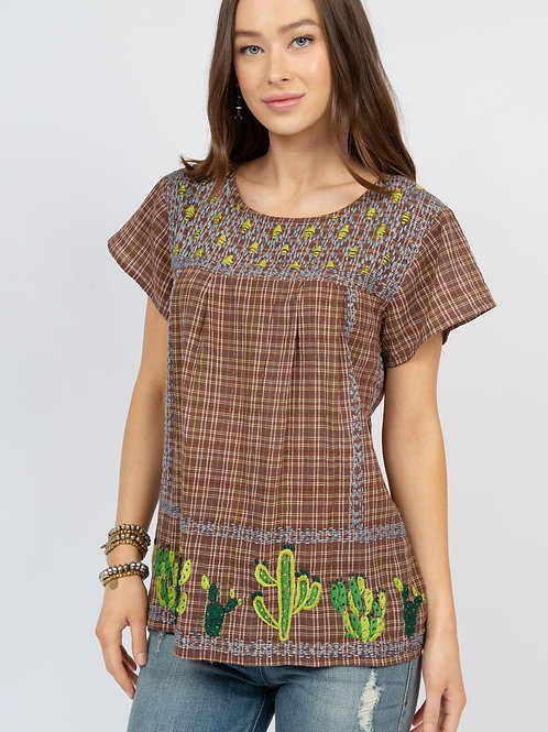 Ivy Jane Cactus Top with Embroidery