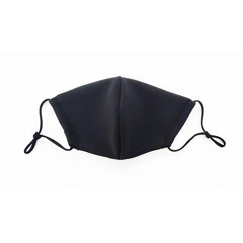 Designer Adult Black Face Mask, Unisex, Double Layer Cloth