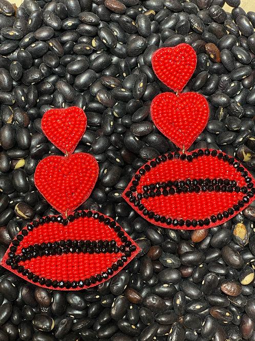 Love Lips Earrings - Post