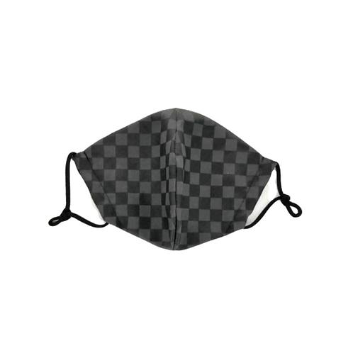 Chess Black & Grey Unisex Mask ~ Double Layer