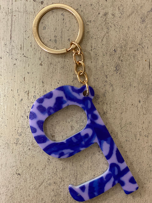 Touchless Keychain Opener Purple