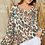Thumbnail: Leopard Long Sleeve Top ~ V- Neck