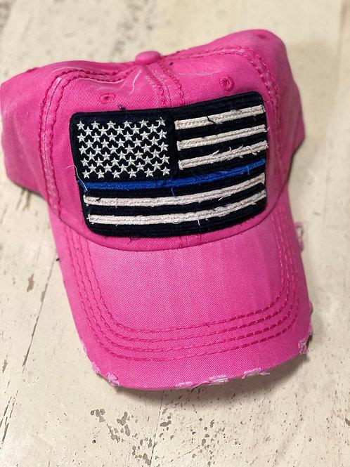 Pink USA Cap
