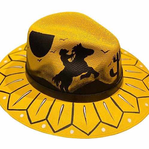Yellow Horse Straw Hat