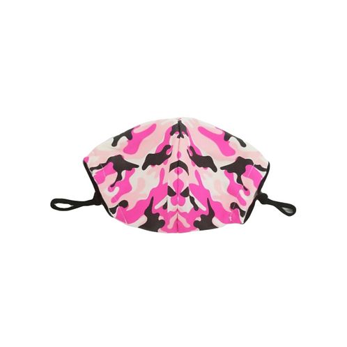 Pink Camo ~ Adult Mask ~ Double Layer