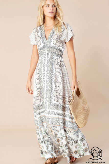 Maxi Print Hale Dress