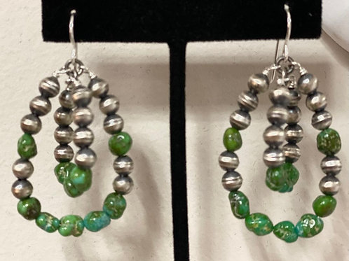 Sonoran Sterling Silver Turquoise Earrings