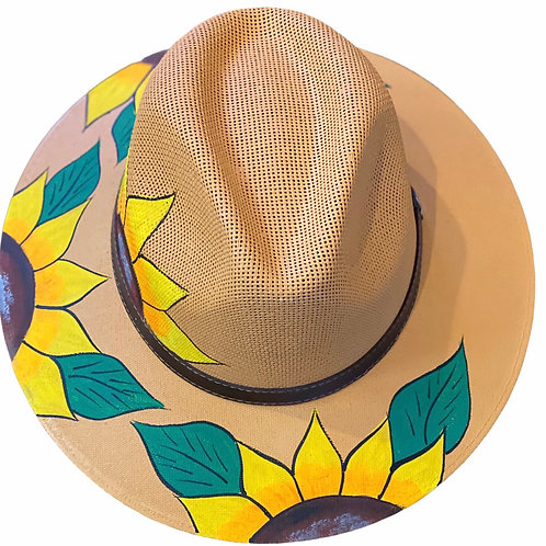 Sunflower Straw Hat - Natural