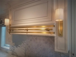 Brass on White Wood
