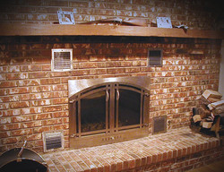 Custom Stainless Fireplace Doors