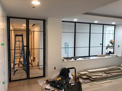 Custom Black Steel and Glass Doors