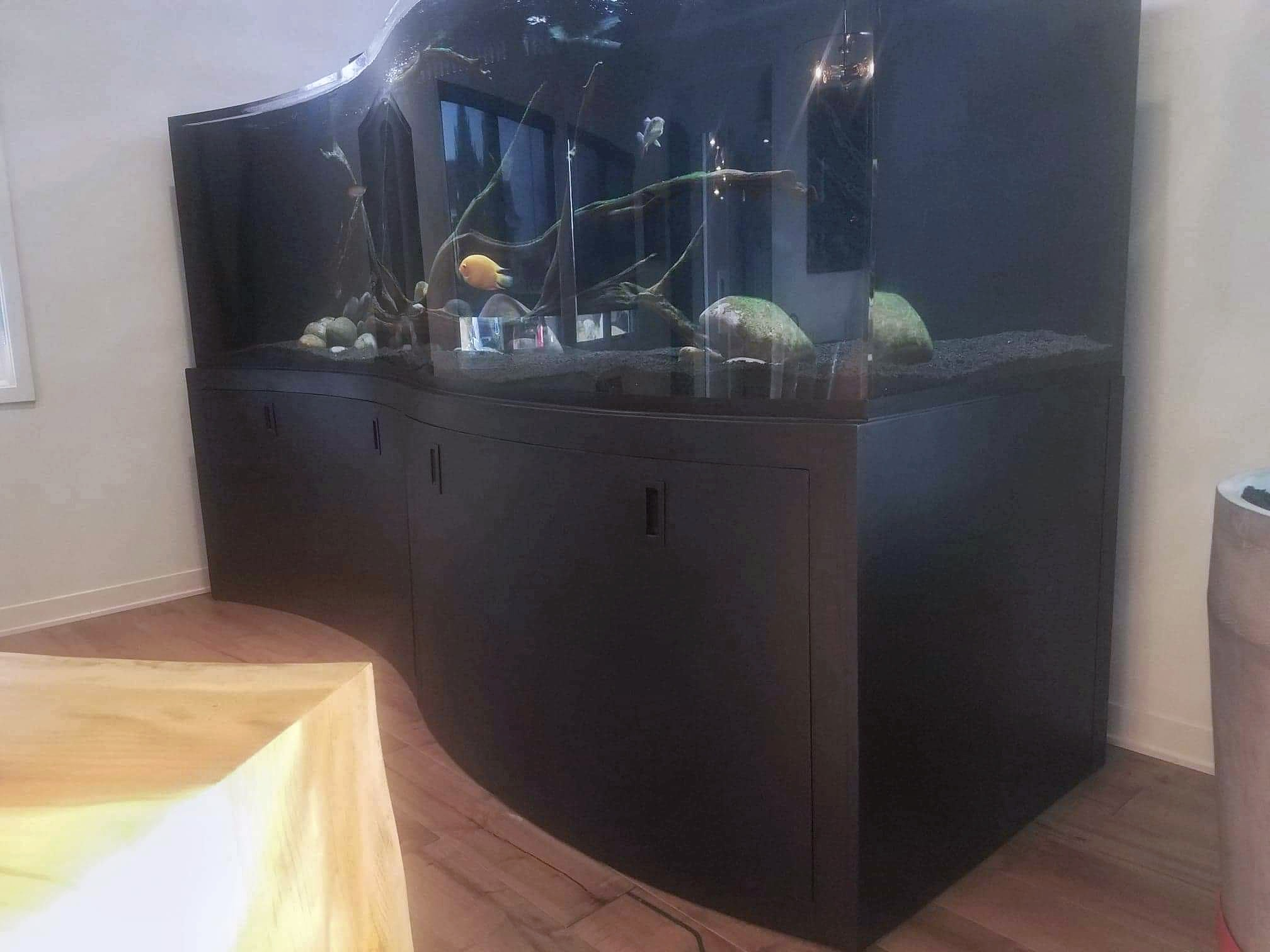 Custom Metal Aquarium Cabinets