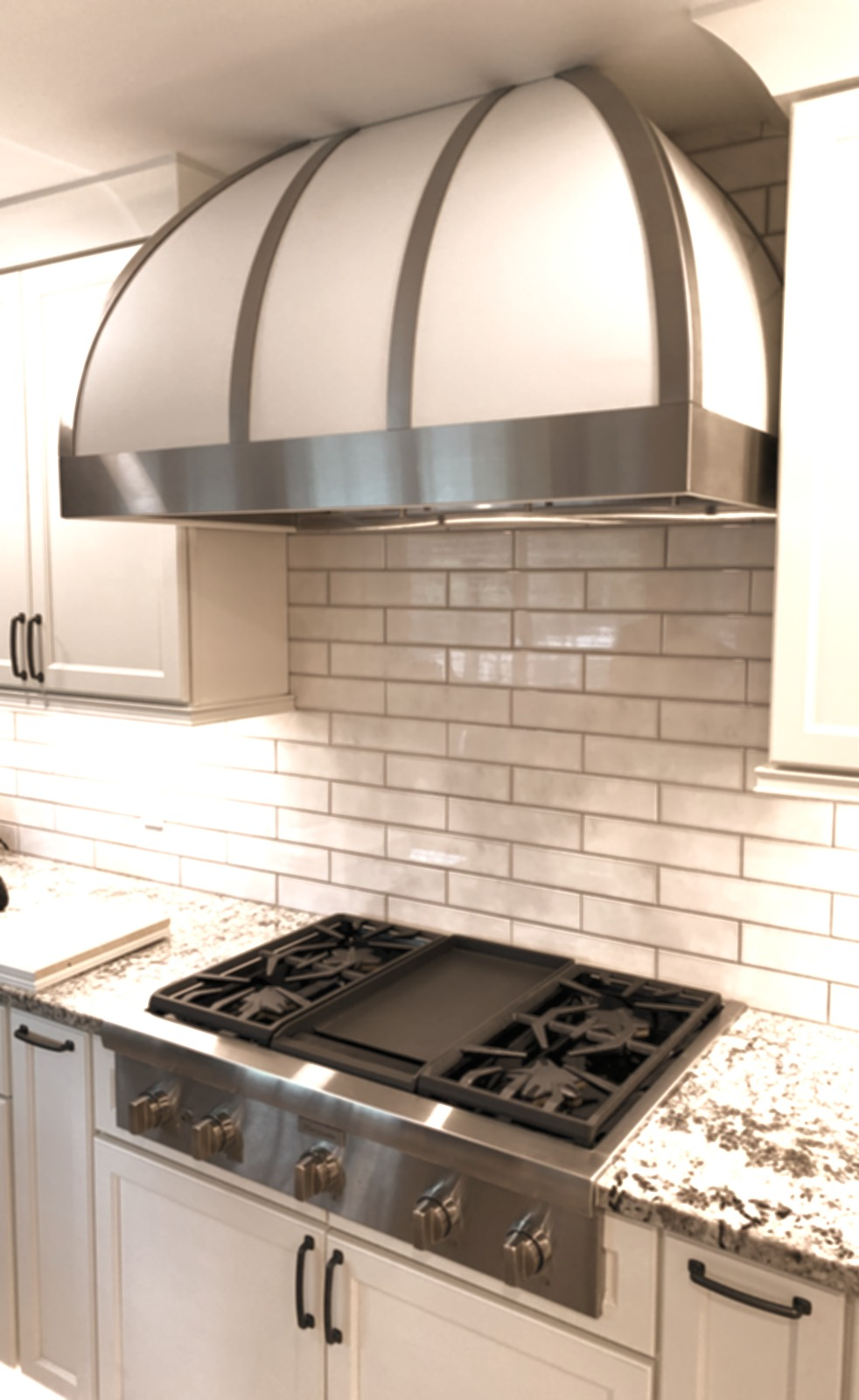 White Powder Coated Range Hood
