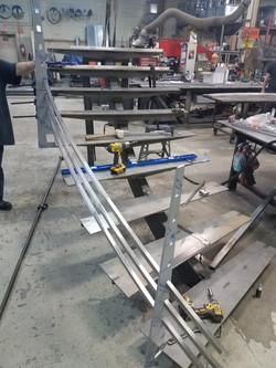Stainless Monorail Staircase