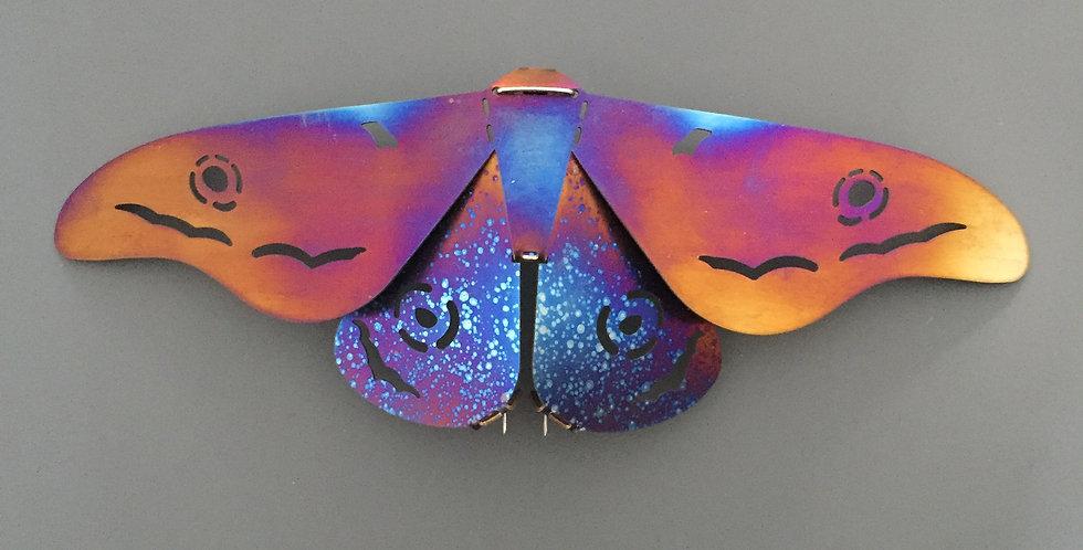 Gum Moth Brooch