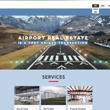 Wix Website For Airport Real Estate