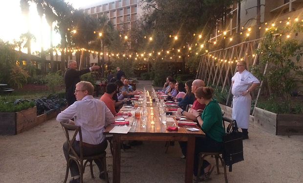 Tasting Event in Chef's Garden.JPG