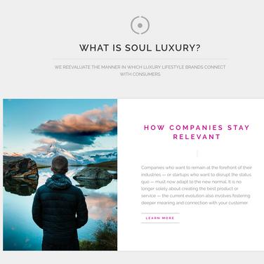 Soul Luxury Website Content
