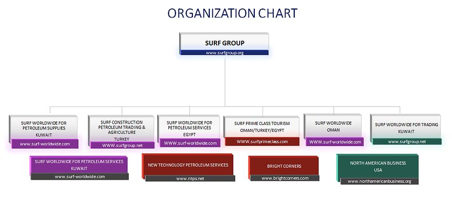 Surf Worldwide Orginisation Chart