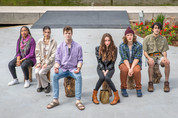 The cast of Small Mouth Sounds, a Bess Wohl play produced by Southern Plains Productions at the Myriad Gardens in Downtown Oklahoma City in May 2021.