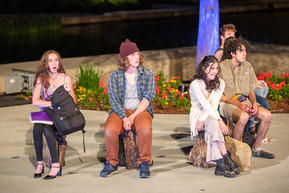 The Southern Plains Productions cast performs Small Mouth Sounds at the Myriad Gardens in Downtown Oklahoma City on May 19, 2021.