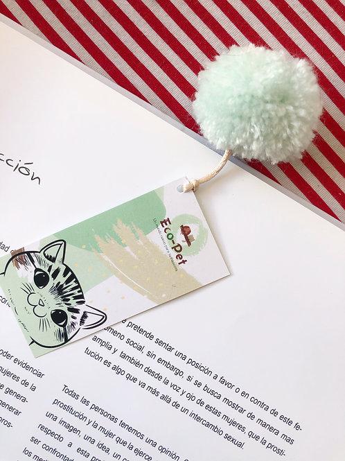 Separador gato fondo verde