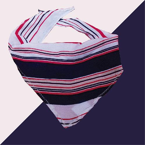 Pañoleta lineas rojas y azules horizontales