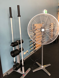 CrossFit Sana Training Barbells; CrossFit Sana Fractional Plates; CrossFit Sana Fan